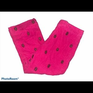 Lilly Pulitzer Corduroy Turtle Pants